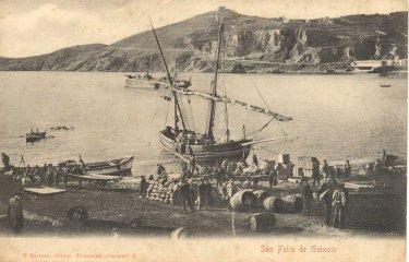 L'any 1882 es produí un doble naufragi a la badia de Sant Feliu